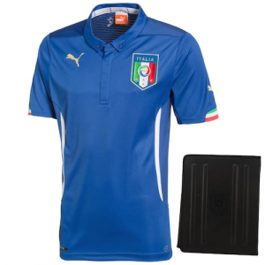 Puma Italy 2014 World Soccer Authentic Home Jersey with Tablet Case - Royal Blue