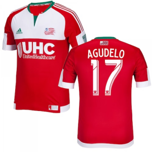 Juan Agudelo New England Revolution adidas 2015 Secondary Authentic Jersey - Red