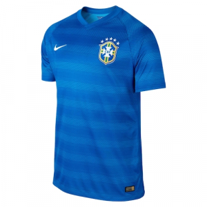 Nike Brazil 2014 World Soccer Authentic Away Jersey - Royal Blue
