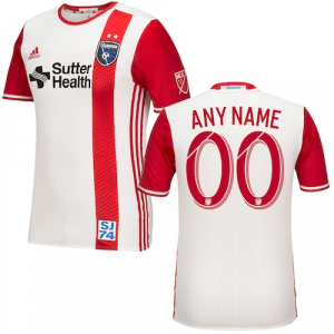 San Jose Earthquakes adidas 2016/17 Custom Authentic Secondary Jersey - Red