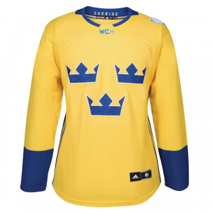 Sweden Hockey adidas Women's 2016 World Cup of Hockey Premier Jersey - Yellow