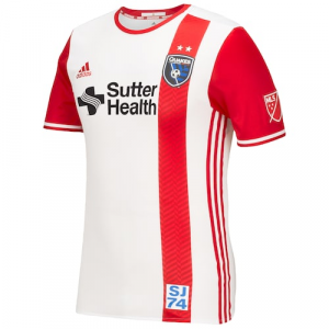 San Jose Earthquakes adidas 2016/17 Authentic Secondary Jersey - Red