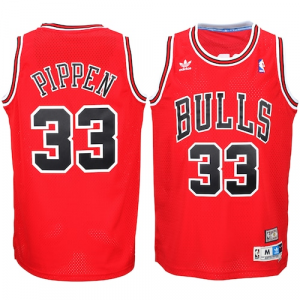 Scottie Pippen Chicago Bulls adidas Hardwood Classics Swingman Jersey - Red Road