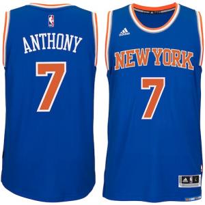 Carmelo Anthony New York Knicks adidas Player Swingman Road Jersey - Blue
