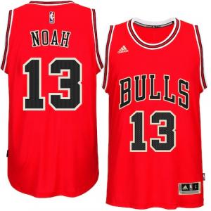 Joakim Noah Chicago Bulls adidas Player Swingman Road Jersey - Red