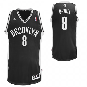 adidas Deron Williams Brooklyn Nets 2013-2014 D-Will Swingman Nickname Jersey - Black