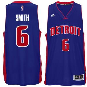 Josh Smith Detroit Pistons adidas Player Swingman Road Jersey - Royal