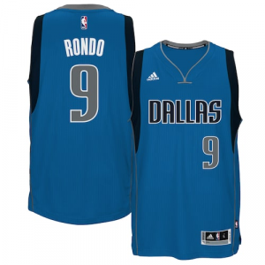 Rajon Rondo Dallas Mavericks adidas Road Swingman Jersey - Blue