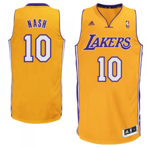 Steve Nash Los Angeles Lakers adidas Swingman Home Jersey - Gold