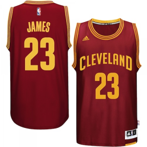 LeBron James Cleveland Cavaliers adidas Player Swingman Road Jersey - Burgundy