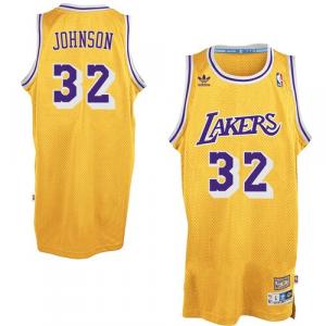 Magic Johnson Los Angeles Lakers adidas Hardwood Classics Swingman Jersey - Gold
