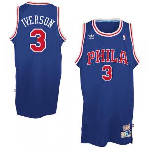 Allen Iverson Philadelphia 76ers adidas Hardwood Classics Swingman Jersey - Royal Blue