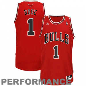 Derrick Rose Chicago Bulls adidas Swingman Road Jersey - Red