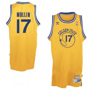 Chris Mullin Golden State Warriors adidas Hardwood Classics Swingman Jersey - Gold