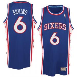 Julius Erving Philadelphia 76ers adidas Hardwood Classics Swingman Jersey - Royal Blue