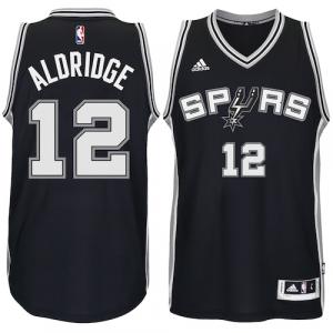 LaMarcus Aldridge San Antonio Spurs adidas Road Swingman climacool Jersey - Black