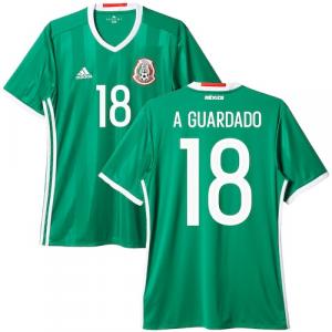 Andres Guardado Mexico adidas 2016/17 Home Replica Jersey - Green