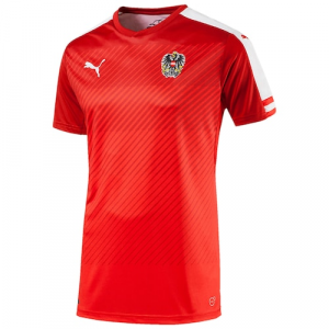 Austria Puma 2016 Home Shirt Replica Jersey - Red/White