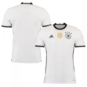 Germany adidas 2016 Home climacool Soccer Jersey - White/Black