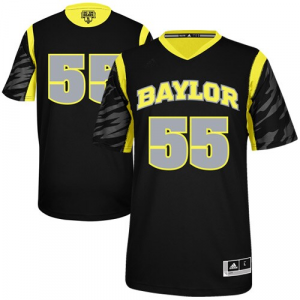adidas Baylor Bears Special Edition #55 Premier Swingman Jersey - Black