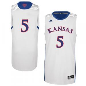 adidas Kansas Jayhawks 2013 March Madness #5 Premier Swingman Jersey - White