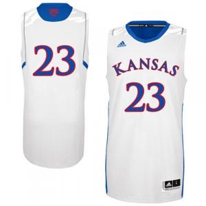 adidas Kansas Jayhawks 2013 March Madness #23 Premier Swingman Jersey - White