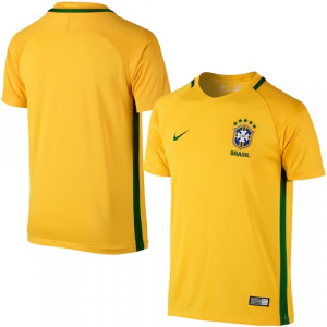 Brazil Nike Home Performance Stadium Jersey - Yellow/Green