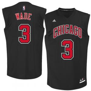 Dwyane Wade Chicago Bulls adidas Fashion Replica Jersey - Black