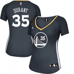 Kevin Durant Golden State Warriors adidas Women's Alternate Replica Jersey - Charcoal