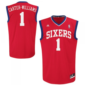Michael Carter-Williams Philadelphia 76ers adidas Replica Road Jersey - Red