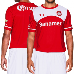 Deportivo Toluca Under Armour Performance Home Jersey - Red