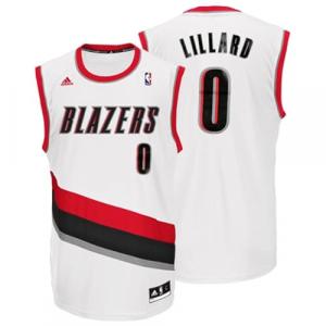 Damian Lillard Portland Trail Blazers adidas Replica Home Jersey - White Home