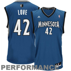 Kevin Love Minnesota Timberwolves adidas Replica Road Jersey - Slate Blue