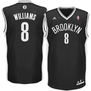 Deron Williams Brooklyn Nets adidas Replica Road Jersey - Black