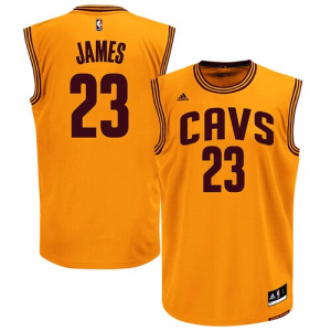 LeBron James Cleveland Cavaliers adidas Alternate Replica Jersey - Gold