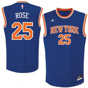 Derrick Rose New York Knicks adidas Replica Jersey - Royal