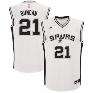 Tim Duncan San Antonio Spurs adidas Home Replica Jersey - White Home
