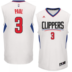 Chris Paul LA Clippers adidas Home Replica Basketball Jersey - White