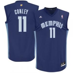 Mike Conley Memphis Grizzlies adidas Replica Road Jersey - Navy Blue