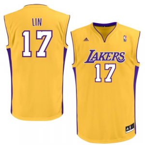 Jeremy Lin Los Angeles Lakers adidas Replica Jersey - Gold
