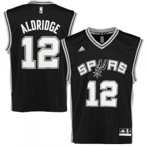 LaMarcus Aldridge San Antonio Spurs adidas Replica Road Jersey - Black