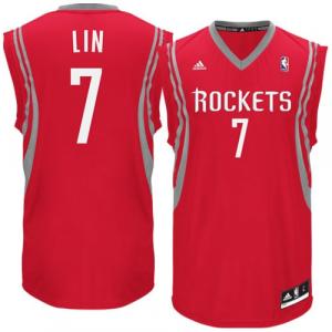 Jeremy Lin Houston Rockets adidas Replica Road Jersey - Red