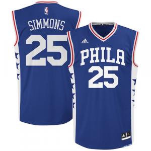 Ben Simmons Philadelphia 76ers adidas Road Replica Basketball Jersey - Royal