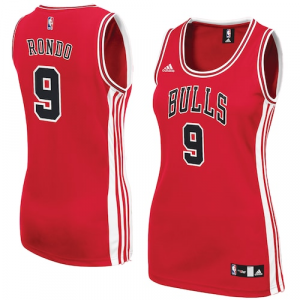 Rajon Rondo Chicago Bulls adidas Women's Road Replica Jersey - Red