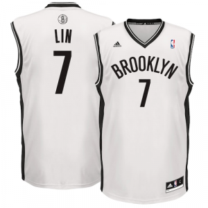 Jeremy Lin Brooklyn Nets adidas Home Replica Jersey - White Home