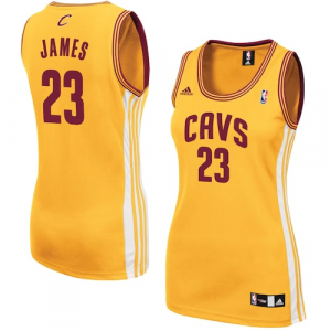 LeBron James Cleveland Cavaliers adidas Women's Alternate Replica Jersey - Gold