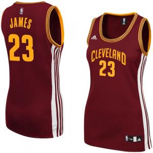 LeBron James Cleveland Cavaliers adidas Women's Replica Jersey - Wine