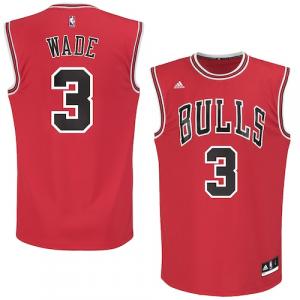 Dwyane Wade Chicago Bulls adidas Replica Jersey - Red