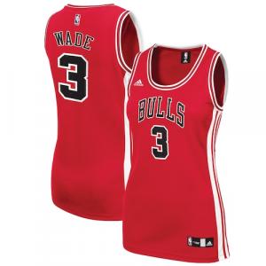 Dwyane Wade Chicago Bulls adidas Women's Replica Jersey - Red