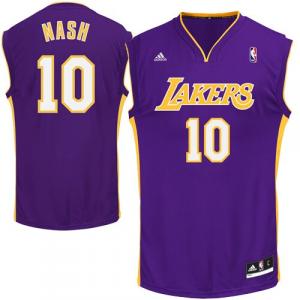 adidas Steve Nash Los Angeles Lakers Replica Road Jersey - Purple